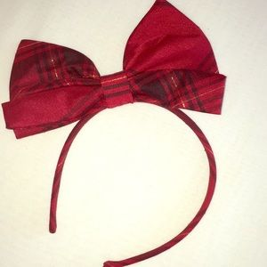 Baby girl big red bow headband